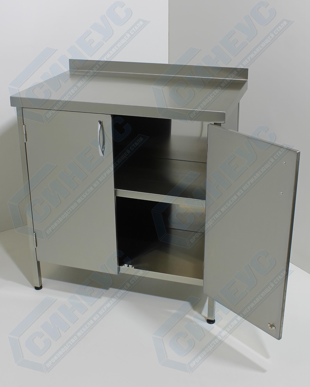 Стол-тумба, двери распашные AISI 430